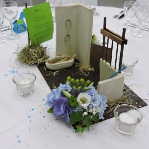 décoration de table personnalisée sur le thème de l
