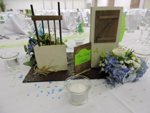 centre de table de mariage thème chevaux