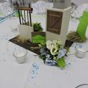 décoration de table thème équitation