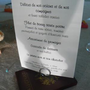 menu paersonnalisé dans le Nord et la Belgique